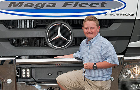 Mercedes-Benz Commercial Vehicles East Rand partnered with the youngest truck owner in the world.